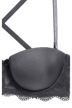 Strapless balconette bra - Dark grey - Ladies | H&M 3