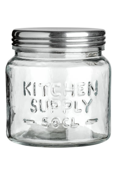 Small glass jar - Clear glass - Home All | H&M GB