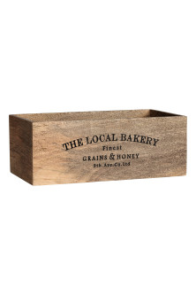 Large rectangular wooden box