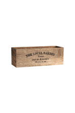 Rectangular wooden box - Natural - Home All | H&M CA 1