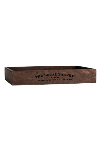 Rectangular wooden tray - Dark brown - Home All | H&M IE