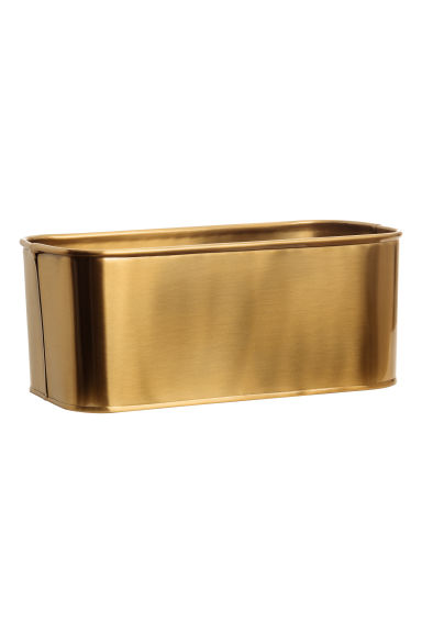 Metal storage box - Gold-coloured - Home All | H&M IE