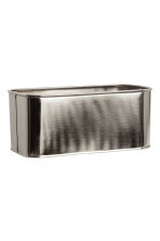 Metal storage box - Silver-coloured - Home All | H&M IE 1