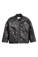 Biker jacket - Black - Kids | H&M 2