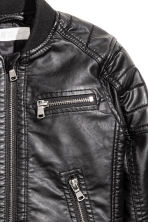Biker jacket - Black - Kids | H&M 3