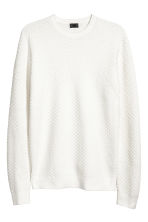 Cotton-blend jumper - White - Men | H&M 2