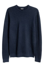 Cotton-blend jumper - Dark blue - Men | H&M CN 2