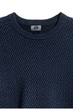 Cotton-blend jumper - Dark blue - Men | H&M CN 3