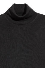 Merino wool polo-neck jumper - Black - Men | H&M 3