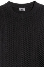 Textured-knit jumper - Black - Men | H&M 3