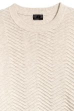 Textured-knit jumper - Beige -  | H&M 3