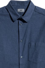 Flannel shirt Regular fit - Dark blue marl -  | H&M GB 3