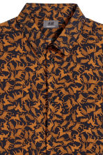 Patterned shirt Slim fit - Dark blue/Cats - Men | H&M 3
