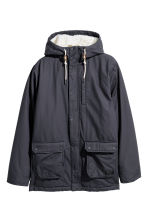 Cotton parka - Dark blue - Men | H&M GB 2