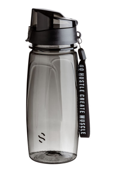 Water bottle with lid - Black - Men | H&M 1