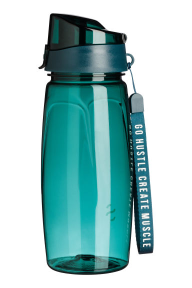 Water bottle with lid - Dark turquoise - Men | H&M 1