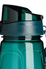 Water bottle with lid - Dark turquoise - Men | H&M 2