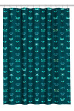 Patterned shower curtain - Dark green - Home All | H&M CN 1