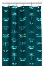 Patterned shower curtain - Dark green - Home All | H&M CN 2
