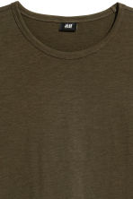 Slub jersey T-shirt - Dark khaki green - Men | H&M 3