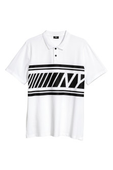 Polo shirt with a print motif