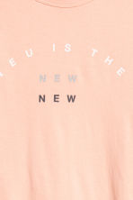 T-shirt with a text print - Apricot - Men | H&M 3
