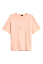 T-shirt with a text print - Apricot - Men | H&M 2