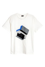 T-shirt with a print motif - White - Men | H&M 2