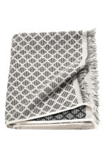 Jacquard-weave bath towel - Anthracite grey -  | H&M CN 1