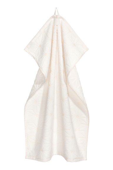 Jacquard-weave hand towel - White - Home All | H&M CN 1