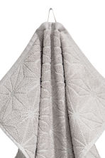Jacquard-weave hand towel - Light grey - Home All | H&M IE 3