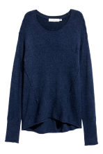 Knitted jumper - Dark blue - Ladies | H&M CN 2