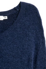 Knitted jumper - Dark blue - Ladies | H&M GB 3