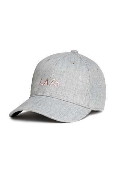 斜紋鴨舌帽 - Light grey marl - Ladies | H&M 1