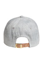 斜紋鴨舌帽 - Light grey marl - Ladies | H&M 2