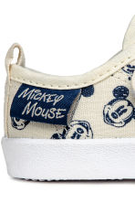 Trainers - Light beige/Mickey Mouse - Kids | H&M 4