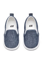 Slip-on trainers - Dark blue/Chambray - Kids | H&M CA 2