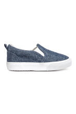 Slip-on trainers - Dark blue/Chambray - Kids | H&M CA 1