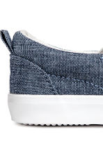 Slip-on trainers - Dark blue/Chambray - Kids | H&M CA 3