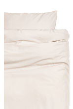 Cotton duvet cover set - Light beige - Home All | H&M CN 2