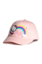 Printed cap - Light pink/Hello Kitty - Kids | H&M CA 1