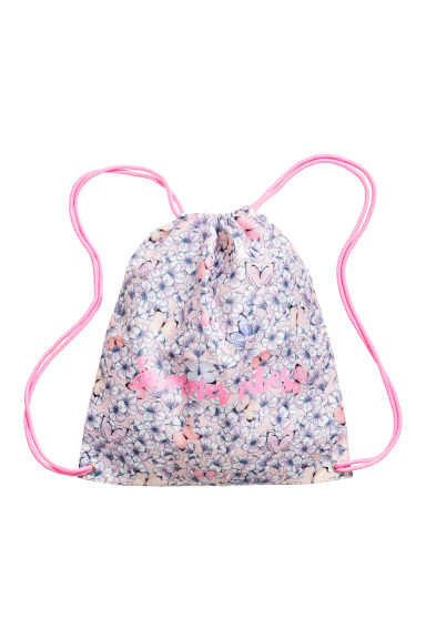 Patterned gym bag - Light pink/Floral - Kids | H&M 1