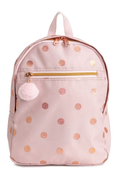 印花双肩背包 - Powder pink/Spotted -  | H&M CN 1