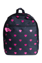 Patterned Backpack - Dark blue/Hearts -  | H&M CA 1