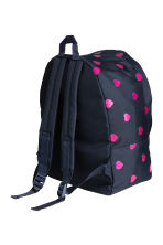 Patterned Backpack - Dark blue/Hearts -  | H&M CA 2