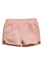 Cotton dress and shorts - Dusky pink - Kids | H&M CN 2