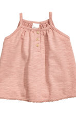 Cotton dress and shorts - Dusky pink - Kids | H&M CN 3