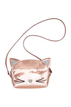 Patent shoulder bag - Rose gold -  | H&M 2
