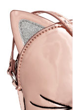 Patent shoulder bag - Rose gold -  | H&M 3