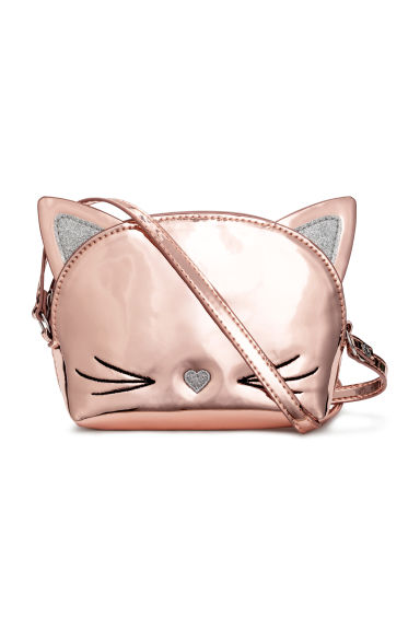 Patent shoulder bag - Rose gold -  | H&M 1